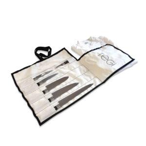 Borsa porta coltelli da chef 6 pz